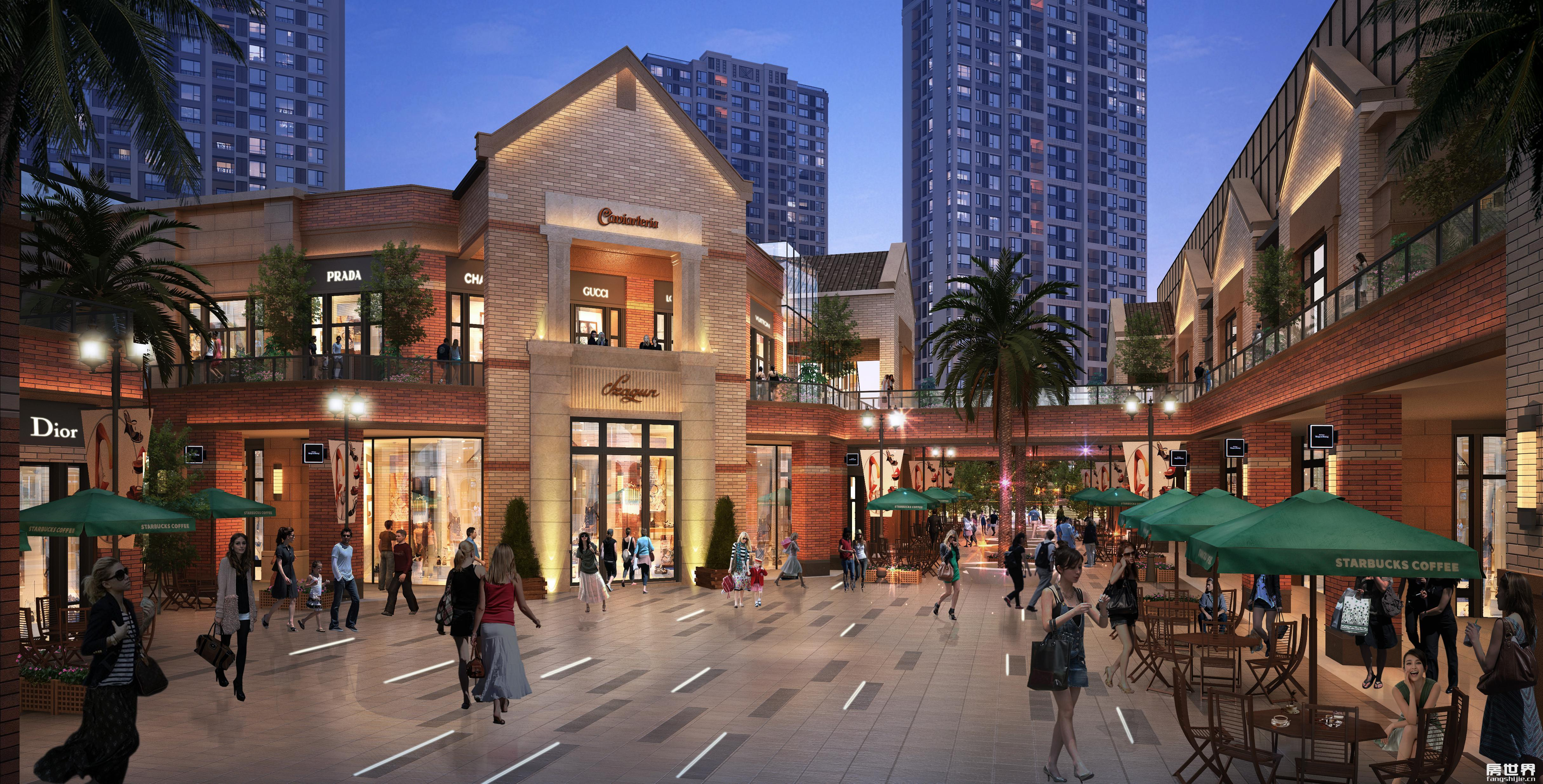 青红砖,清水墙,玻璃橱窗,这些以上海新天地为蓝本的设计元素,既传统又