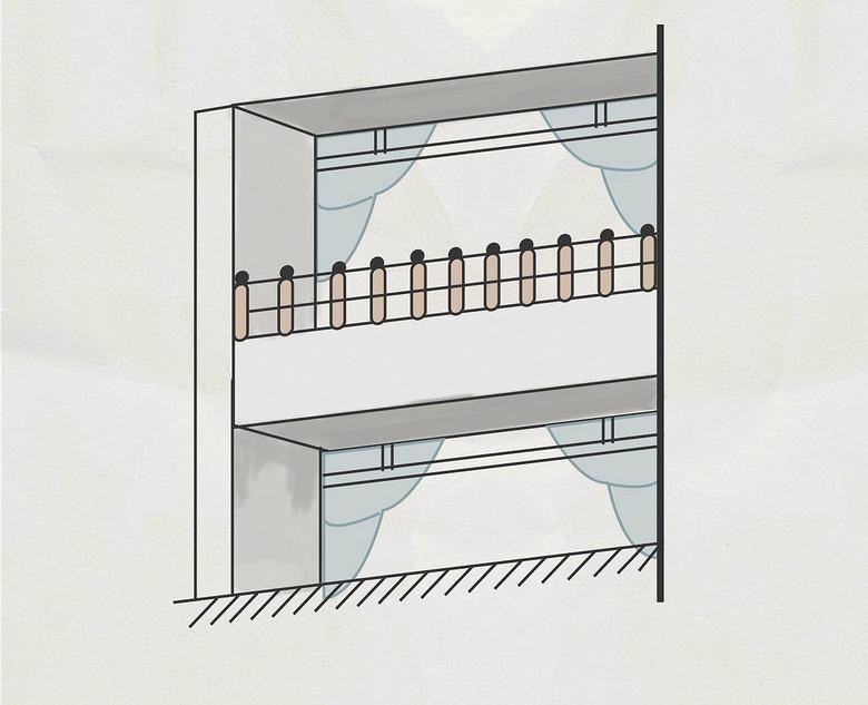 主体结构内的阳台,按主体结构外围水平投影