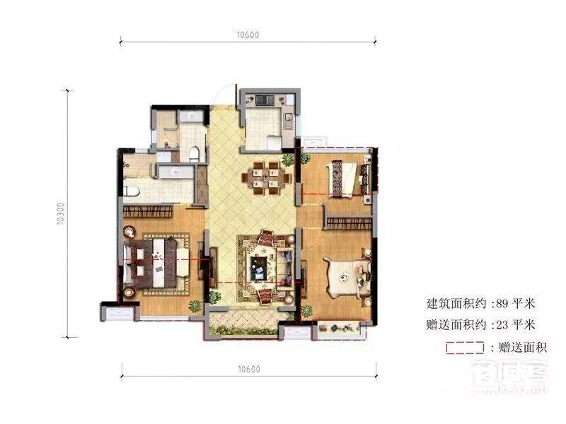 建设四路地铁房融科东南海,89方送23方仅售210W