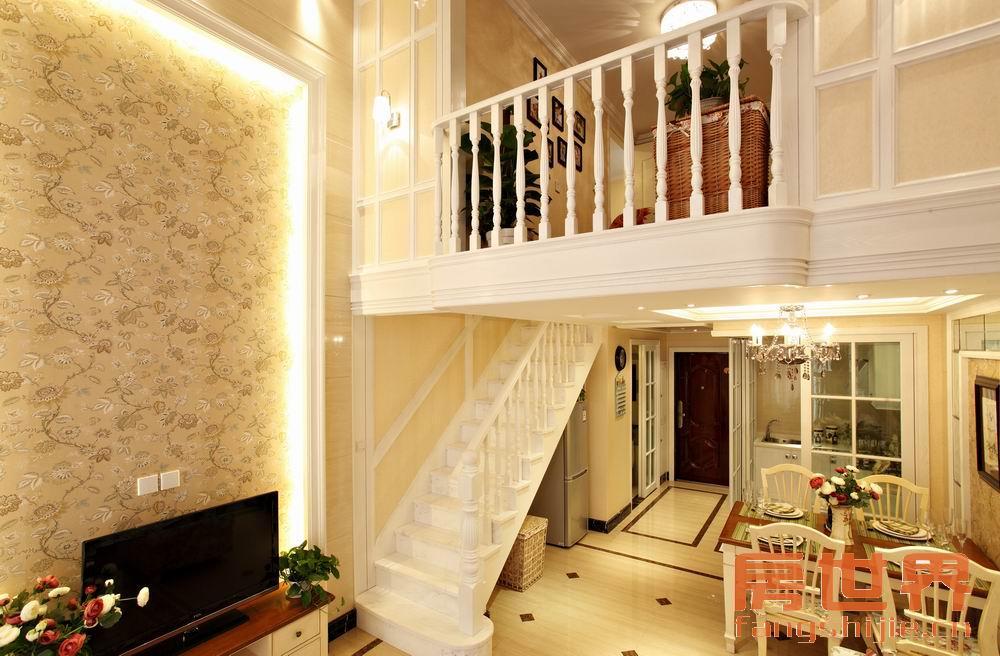 loft结构,二房二厅,欧式装修